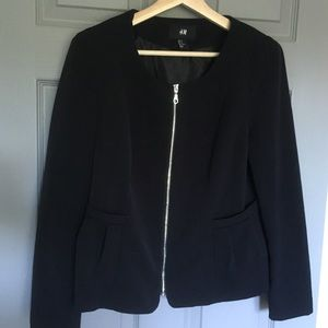 H&M Zip Black Blazer 12